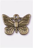 Breloque en métal papillon 22x16 mm bronze x1