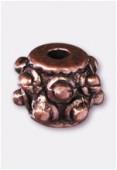 Perle en métal intercalaire 7x5 mm cuivre x4