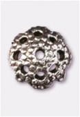 Coupelle en métal 5 mm argent vieilli x12