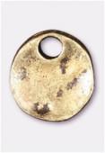 Breloque en métal pion 10 mm bronzé x2