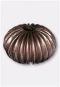 Perle en laiton ronde 12x10 mm cuivre x2