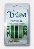 Fil cablé Soft Flex Trios Renewal 0.19 Peridot, Emerald, Chrysoprase x1