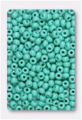Rocaille 4 mm green turquoise opaque x20g