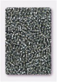 Rocaille 2 mm black diamond silver-lined x20g