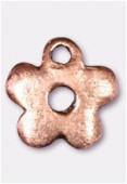 Breloque en métal petite fleur 10 mm cuivre x2
