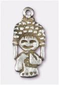 Breloque en métal tokyo girl 24x11 mm argent vieilli x1