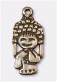 Breloque en métal tokyo girl 24x11 mm bronze x1