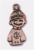Breloque en métal tokyo boy 24x11 mm cuivre x1