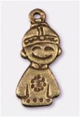 Breloque en métal tokyo boy 24x11 mm bronze x1