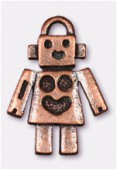 Breloque en métal robot 25x18 mm cuivre x1
