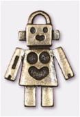 Breloque en métal robot 25x18 mm bronze x1