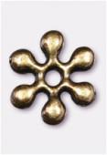Perle en métal intercalaire 7 mm bronze x6