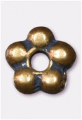 Perle en métal intercalaire 6 mm bronze x6