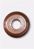 Perle en métal intercalaire 4 mm cuivre x6