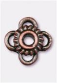 Perle en métal intercalaire 10x6 mm cuivre x2