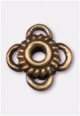 Perle en métal intercalaire 10x6 mm bronze x2