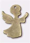 Pendentif en métal ange 32x25 mm bronze x1