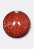 Goldstone brown ronde 10 mm x4