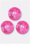 Ronde craquelée 8 mm neon pink x12