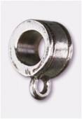 Attache breloque en métal 7x6 mm argenté vieilli x2