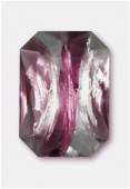 Cabochon rectangle 25x18 mm amethyst silver foiled x1