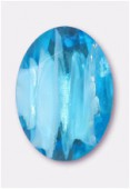 Cabochon ovale 25x18 mm sky silver foiled x1