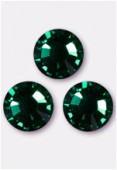 Strass 2058 SS20 5 mm emerald F x24