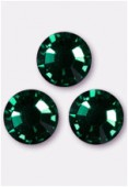 Strass 2028 SS10 3 mm emerald F x50