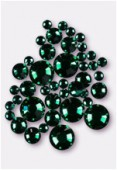 Strass 2028 3 mm / 5 mm / 7 mm emerald F x42