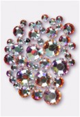 Strass 2028 3 mm / 5 mm / 7 mm crystal AB F x42