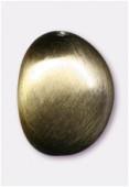 Galet en résine satin brossé 24x19 mm bronze x1