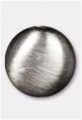 Palet en résine satin brossé 17x8 mm argent vieilli x1