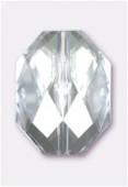 Palet octogonal à facettes en acrylique 20x15 mm crystal x4