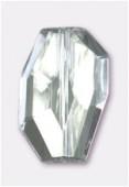 Galet à facettes en acrylique 30x20 mm crystal x1