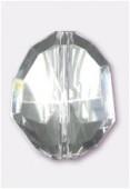 Galet à facettes en acrylique 25x20 mm crystal x1