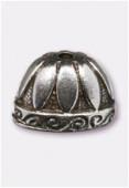 Coupelle en métal 20X13mm argent vieilli x1