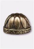 Coupelle en métal 20X13mm bronze x1