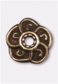 Coupelle en métal 9mm bronze x2