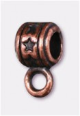 Attache breloque en métal 8x4 mm cuivre x4
