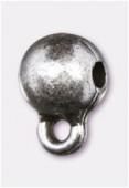 Attache breloque en métal 10x8 mm argent x2