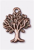 Breloque en métal arbre de vie 22x17 mm cuivre x1