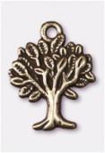 Breloque en métal arbre de vie 22x17 mm bronze x1