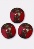 Perle 3-cut picasso 10 mm blood red x6