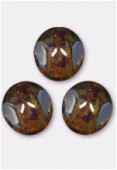 Perle 3-cut picasso 10 mm crystal x6