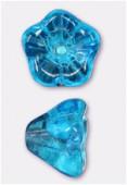Cloche fleur 6x8 mm aqua x6