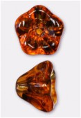 Cloche fleur 6x8 mm tortoise shell x6
