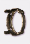 Sertissure pour cabochon ovale 14x10 mm bronze x1