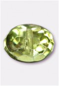 Ronde aplatie 9x14 mm avocado metallic ice x2