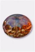 Ronde aplatie 9x14 mm crystal picasso x2