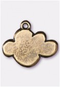 Breloque en métal nuage 15x13 mm bronze x2